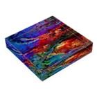 MAIMIのエネルギーアート〖神宿〗 Acrylic Blockの平置き