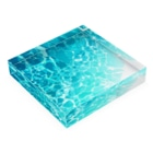 WhClの海の水面B Acrylic Blockの平置き