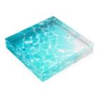 WhClの海の水面A Acrylic Blockの平置き