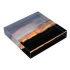 ばにーすぺーの夕焼け Acrylic Blockの平置き
