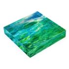aeiuoの印象派みたい Acrylic Blockの平置き