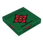 NICE ONEのクリスマスオーナメント ポインセチア Acrylic Blockの平置き
