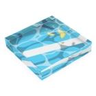 yu.の夏のプールに飛び込んだ(レモン) Acrylic Blockの平置き
