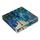 kiyoraの青と金 Acrylic Blockの平置き