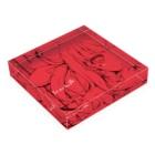 式部めぐりのScarlet Acrylic Blockの平置き
