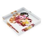 きゃぴあてれび♥ショップのハッピーアニマル(初期限定デザイン|キャバリア・インコ・犬・鳥) Acrylic Blockの平置き