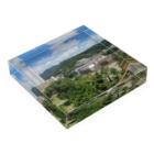 FUCHSGOLDの日本の城:甲府城と市街地の風景 Japanese castle: view of Kofu castle & around Acrylic Blockの平置き