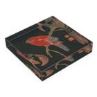 HOKO-ANの伊藤若冲 赤鸚鵡図 Acrylic Blockの平置き