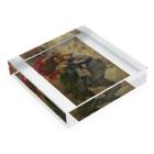 世界の絵画アートグッズのガエターノ・ベッレイ 《雨の日の彼女たち》 Acrylic Blockの平置き