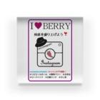 MonokomonoのI LOVE CAFE BERRY - INSTAGRAM Acrylic Block