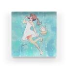 *momochy shop*のアイスと女の子 Acrylic Block