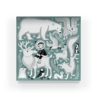 たじまなおとのグッズの北極の生き物 Acrylic Block