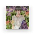 Cor Leonis SUZURI storeの翠雨に咲くアクリルブロック Acrylic Block