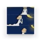 倉田姉妹店の月と女の子シリーズ* アクリルブロック