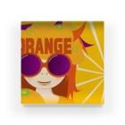 バンブータケのORANGEオレンジ アクリルブロック