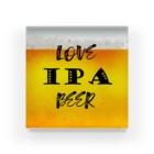8garage SUZURI SHOPのlove IPA beer ver2 アクリルブロック
