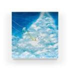はなのすみれの『のびのびインコちゃんと夏のブランコ』 Acrylic Block