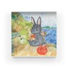 うさぎ石鹸の海辺のパトちゃんとケロちゃん Acrylic Block