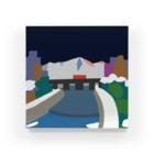 7センチの鴨  川 (夜) Acrylic Block