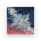筆月彩夢(ふでつき あやむ)の青と赤(暗) Acrylic Block