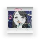 にくまん子のそれは天使も泣くわな~😢 Acrylic Block