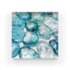 青空骨董市の煌めく海面とシーグラス Acrylic Block