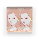 hamのpink girls Acrylic Block