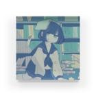 粟屋やわ子の真夜中の図書館 Acrylic Block