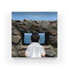 ウツリギの海をのぞく背 Acrylic Block