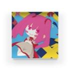 銀猫@絵垢+ご依頼受付中のプレゼントと女の子 Acrylic Block