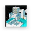 坂月さかなの星外れの街 Acrylic Block