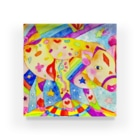 shu-shuの水彩イラスト ブタ Acrylic Block