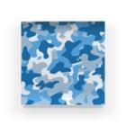 みや猫の迷彩柄(スカイブルー) Acrylic Block