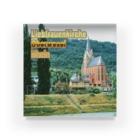 FUCHSGOLDのドイツ:ライン川と教会 Germany: Church at Rhein/ Oberwesel Acrylic Block