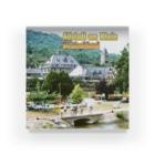 FUCHSGOLDのドイツ:ライン川の岸辺の風景 Germany: Old town beside Rhein Acrylic Block