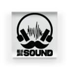 HIGESOUNDの髭サウンドロゴ 黒 Acrylic Block