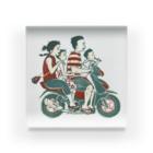 akaneyabushitaの【バリの人々】バイク家族乗り Acrylic Block