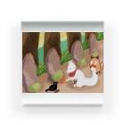 kaorisan_desuの恩人の墓参りの白狐 Acrylic Block