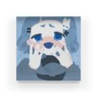 もふこの青もふこの尊い図 Acrylic Block