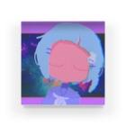 もふこの宇宙青もふこ Acrylic Block