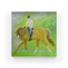 馬の絵の画家 斉藤いつみの朝露1アクリルブロック Acrylic Block