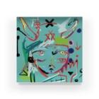 犬虫雑貨の犬虫の肖像(四つ目ツノ) Acrylic Block