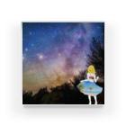 Ksukeのガール×写真×夜空 Acrylic Block