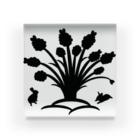 うさぎのきた道&の白黒木兎f Acrylic Block