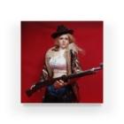 FUCHSGOLDのドール写真:ライフル銃を持つブロンドの狩人 Doll picture: Blonde hunter with type38 rifle gun Acrylic Block