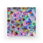 manmonjijiのcolorful flower Acrylic Block