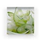 星空青井の夏っぽいね!胡瓜とセロリのサラダだよ! Acrylic Block