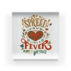 akaneyabushitaのSpread Your Love Like a Fever Acrylic Block