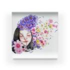 癒しと幸せの占い師・ちぃのお店の恋する乙女 Acrylic Block
