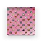 みなまりSHOPの荒ぶるチワワ ピンク Acrylic Block